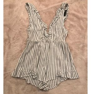 Navy & White Striped Top Shop Romper